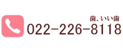 電話番号:022-226-8118